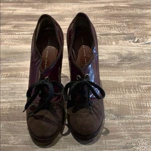 Marc by Marc Jacobs Purple Heel Oxfords